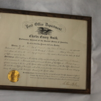 Phillipsburg Postmaster Certification Certificate