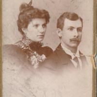 Wedding Photograph of Ed Bennett and Julia A. Manning