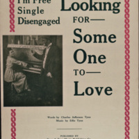 """I'm Free, Single, Disengaged, Looking For Someone to Love"" Sheet Music"