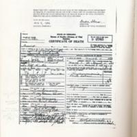 1933 Death Certificate