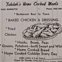 Tululah's Home Cooked Meals Advertisement
