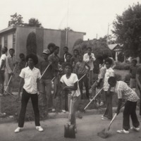 Youths Participating in a Community Clean-up