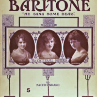 'When He Sang that Baritone He Sang Some Bear' sheet music