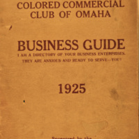1925 Business Guide, Colored Commercial Club of Omaha, Nebraska