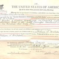 1906 Homestead Certificate