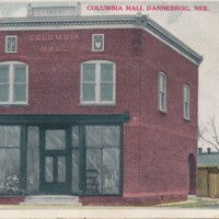 Columbia Hall, Dannenbrog, Nebraska Postcard