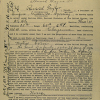 Russel Taylor's Homestead Application, May 20, 1913