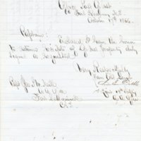 Letter from Chase E. Dibble to a Military Officer at Fort Kearney, Nebraska Territory, October 17, 1866