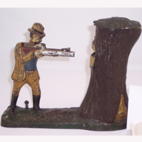 "Otoe County Museum – ""Teddy and the Bear"" Mechanical Coin Bank Demonstration"