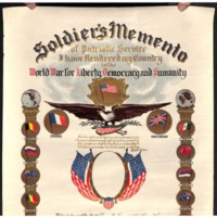 Soldier's Memento-Service Certificate