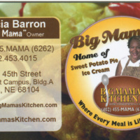 "Patricia ""Big Mama"" Barron's Business Card"