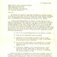 Eugene Sengstake Sr.'s Brother's Letter to Major Glenn E. Cole, September 17, 1944