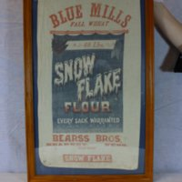 Blue Mills Flour Sack and Building Photographs