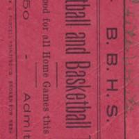 1918- 19 Broken Bow High School Football and Basketball Ticket