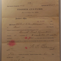 Timber Claim Receipt And Cover Letter, July 15, 1898